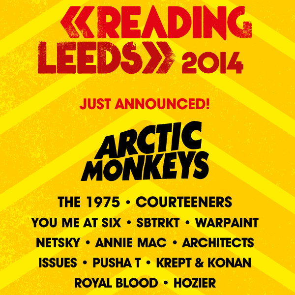 arctic monkeys reading 2014 lineup